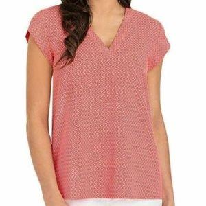 Hilary Radley Women's V-Neck Cap Sleeve Top